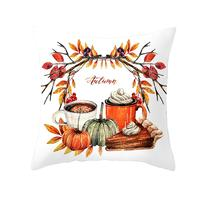 Thanksgiving Pillow Covers Happy Autumn Pumpkin Throw Pillows cases Fall Farmhouse Truck Harvest Maple Leaves Cushion covers