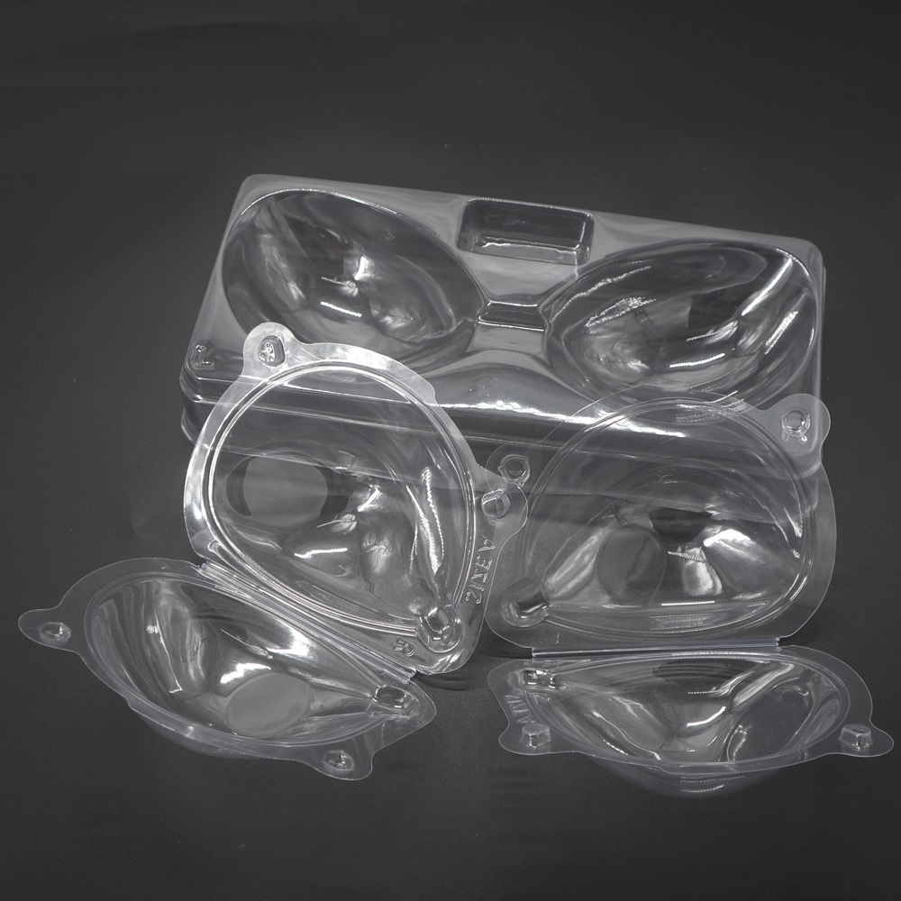 Hohe Qualität Angepasst Transparente Kunststoff Silicon Bh cup Clamshell Verpackung