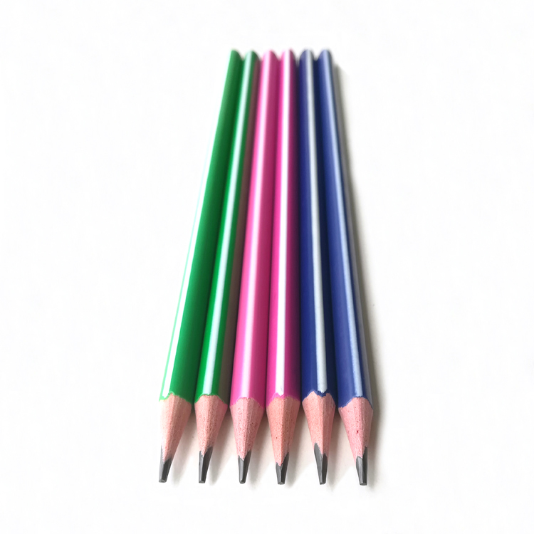 18 Years Manufacturer High Quality Triangular Plastic Stripe HB Sketch Pencil