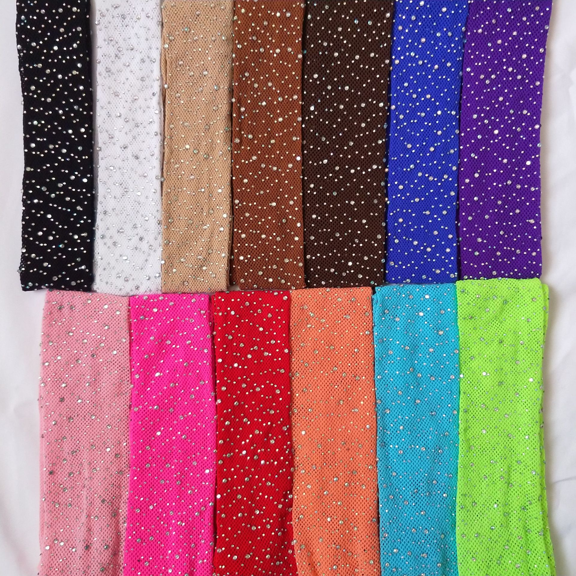 RTS Wholesale 23 Candy Color Fashion Girls Kid Mesh Fishnet Net Pattern Rhinestone Pantyhose Baby Glitter Bling Bedazzled Tights