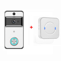 WiFi 720P Video Door Bell Camera Waterproof Wireless Doorbell with Cloud Storage and Security Camera with Chime and Battery