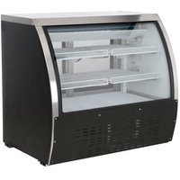 508L Curved Glass Refrigerated Deli Case Showcase Display Cabinet