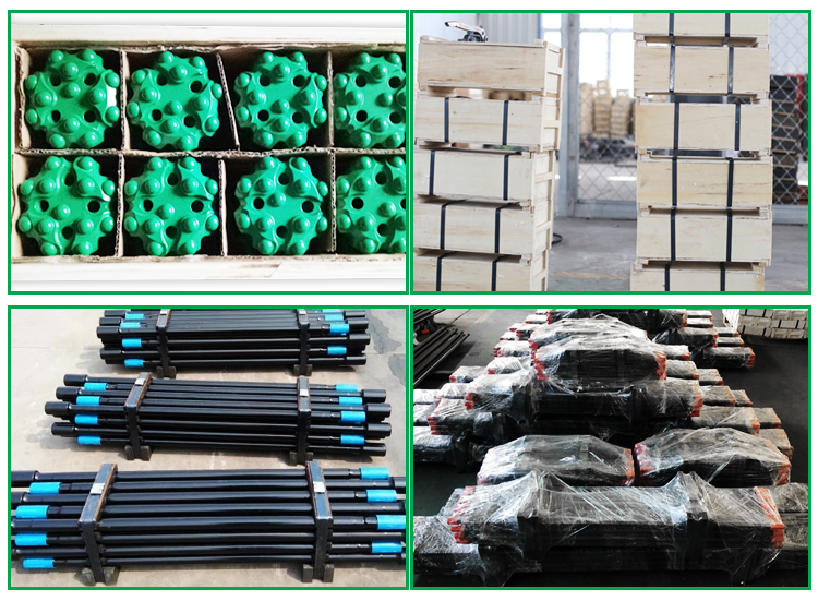 High quality T38 T45 T51 Mining rock drill bits extension rod
