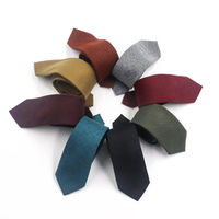 Fashion Men Business Formal Wool Necktie Wear Woven Herringbone Jacquard Brushed Wool Cashmere Tie
