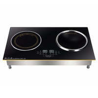Wholesale china manufacturer double induction stove cooker with touch control
