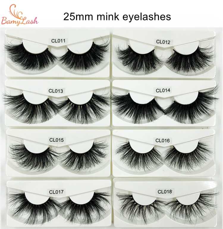 custom private label Wholesale 3D Mink Lashes Strips eyelash 25mm Lashes 5D mink eyelashes