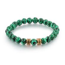 Мужской браслет с гравировкой имени, индивидуальная лава, тигровый глаз, каменные бусины, браслеты, ювелирные подарки ручной работы для пар...(Китай)