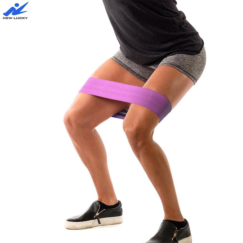 Private label yoga bande workout elastische bands home training übung gym werkzeuge widerstand schleife hüfte band