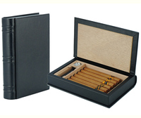 Wholesale Fashion Unique Book Shape Travel Style Leather Humidor