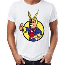 Мужская футболка из 100% хлопка, с принтом My Hero Academia, Deku and All Might, манга, аниме(Китай)