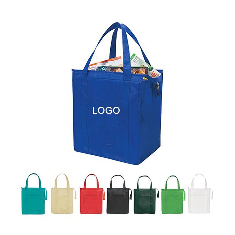 Personalizzato di seta stampato tessuto non tessuto rosa shopping bag eco friendly sacchetto di acquisto non tessuto