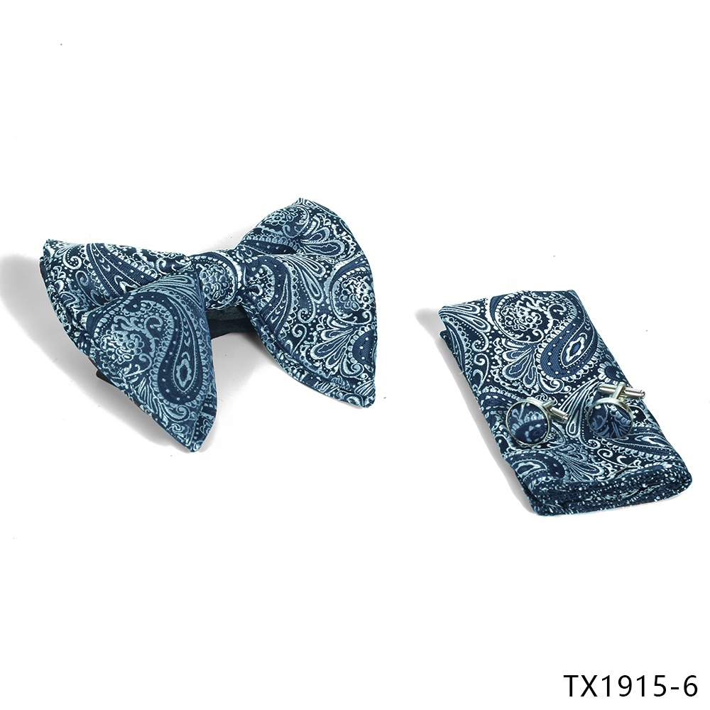 Wholesale professional silk floral ties mens tie and cufflink box sets