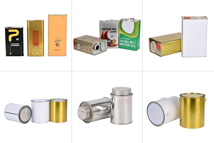 カスタムカラーペイント缶プラスチックフレックススパウト閉鎖蓋