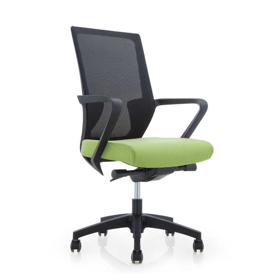 Hot sale swivel meeting room chair, full mesh secretary cheap office chair, ergonomic screw lift staff conference chair