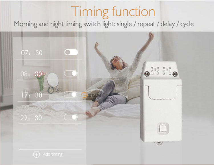 Esun Wifi LED-Leuchten Remote Touch Tuya Alexa Google Smart Dimmer Schalter