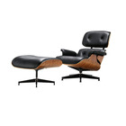 Cheap Nordic modern mid century leather living room furniture charles swivel accent lounge chair with ottoman
