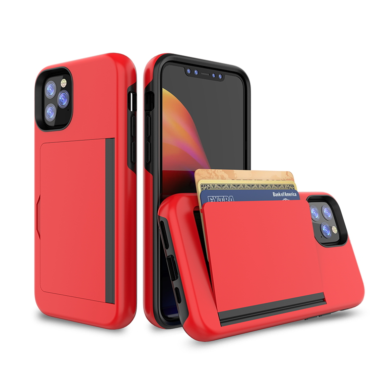 New High Capacity Card Slot Back Phone Case For iPhone 11 Pro Max 2019 5.8/6.1/6.5 Flip Cover Slim Armor Wallet Style Design