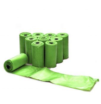 Low price 100% biodegradable plastic bag pet compostable dog poop bags on roll with dispenser