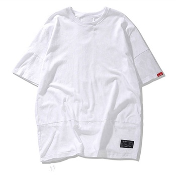 Wholesale Street Style Youth Short Sleeve Solid Color Hip Hop Style Men's T-Shirt
