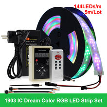 Светодиодный светильник RGB для скачек, изменяемый светодиодный светильник 5 м с 133 программируемым RF контроллером, праздничный декоративный...(Китай)