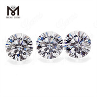 Loose wholesale Price Per Carat Round Brilliant DEF VVS White Moissanite For Ring