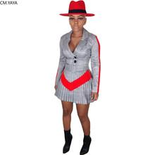 Женский комплект из 2 предметов GL, клетчатый костюм с длинным рукавом и v-образным вырезом, блейзер с принтом и юбка и брюки, спортивный костю...(Китай)