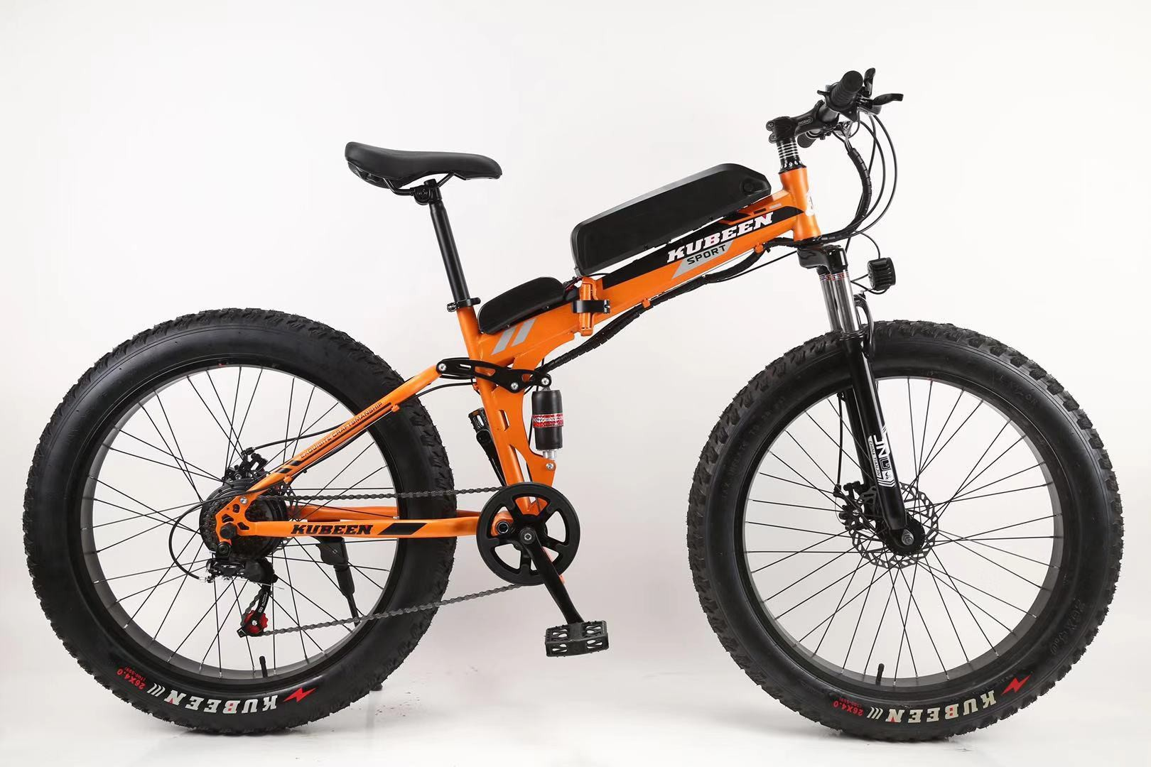 Double suspension 4.0 fat tire pedal assist e bike/21 speed snow mountain bike electric can foldable