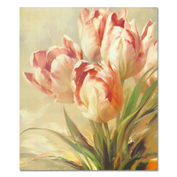 Fabric print beautiful flower painting wall pictures online photo printing