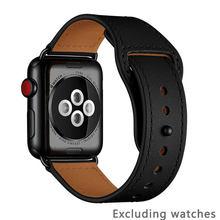Ремешок для apple watch 38 мм 42 мм 40 мм 44 мм ремешок из натуральной кожи для iwatch 3/2/1 для Apple Watch 4/5 аксессуары для часов(Китай)