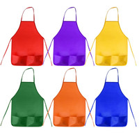 Color Kids Aprons Children Painting Aprons Kids Art Smocks with 2 Roomy Pockets for Kitchen and Classroom (Brushes not Included)