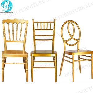 Wholesale wedding chairs gold tiffany with pads cushion