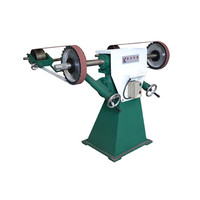 pedestal grinder use with sanding belt and abrasive wheel