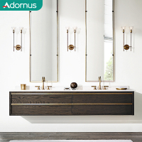 Adornus quartz designer public used spanish style 2 sink bathroom vanity units without sink
