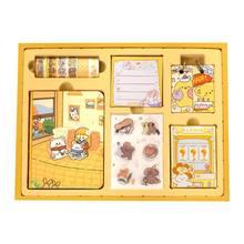 1 комплект, Мультяшные портативные дорожные дневники, канцелярские принадлежности, Васи клейкие наклейки DXAB(Китай)
