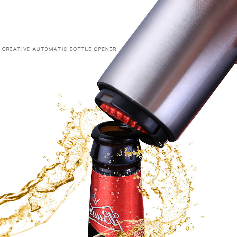 Hot Sale Beer Magnetic Metal Gifts Magnet <strong>Automatic</strong> Retractable Cap Gun <strong>Bottle</strong> <strong>Opener</strong>