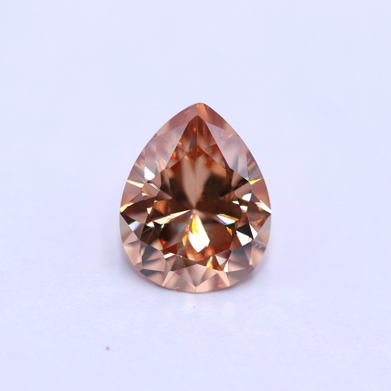 Wuzhou Cubic <strong>Zirconia</strong> 3A D-Champagne color <strong>pear</strong> shape synthetic Loose Gemstone CZ Gems
