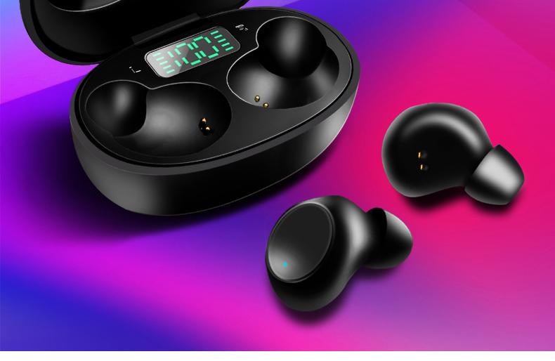 2020 새로운 도착 터치 스크린 핸즈프리 마이크 무선 탑 이어폰