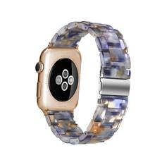 Новый стильный браслет из смолы для Apple Watch Band 40 мм 44 мм серия 5 4 3 2 1 с леопардовым принтом для мужчин/женщин ремешок для Apple iWatch 38/42 мм(Китай)