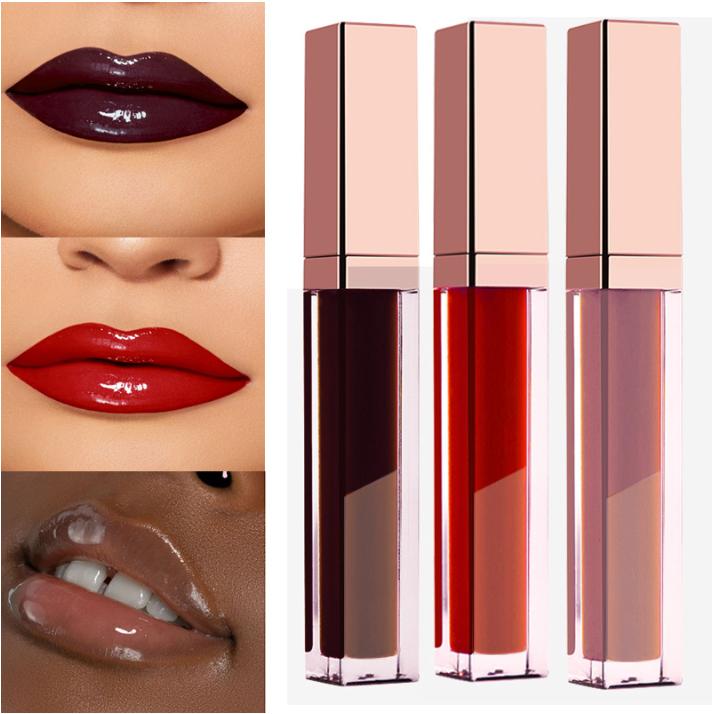 Hot Selling 30 Colors Free Shimmer Liquid Lip Gloss Private Label Custom Logo Shiny Glitter Clear Lipgloss
