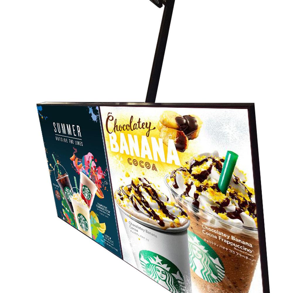 Restaurant led price list board led single side light magnetic slim light box