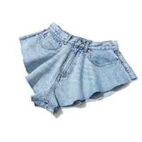 Ladies Tight Jeans Short Frayed Hem Low Waist Women Denim Jean Shorts