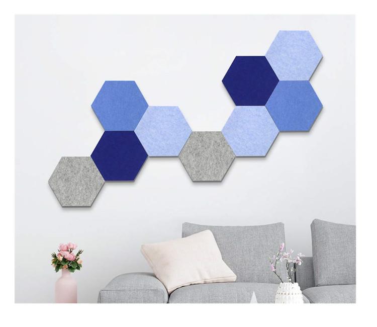 Tường Trang Trí Nội Thất Sticker Hình Ảnh Chủ Hexagon Pin Hội Đồng Quản Trị Nút Chai Cảm Thấy Bảng Thông Báo