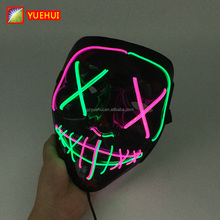 CE RoHS Neon Light EL Wire <span class=keywords><strong>Masker</strong></span> LED Straat Beast Maskers Halloween Doodsbang Light Up EL Draad Cosplay <span class=keywords><strong>Vendetta</strong></span> <span class=keywords><strong>Masker</strong></span> de Purge