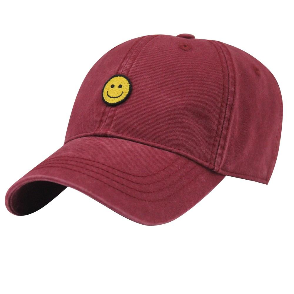 Custom Hot Sale Red Plain Cotton Distressed Dad Hat