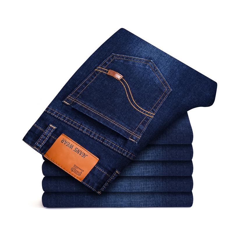 ホット販売卸売男性の綿ストレート古典的なジーンズ男性のデニムパンツ新デザイン男性カジュアルなズボン