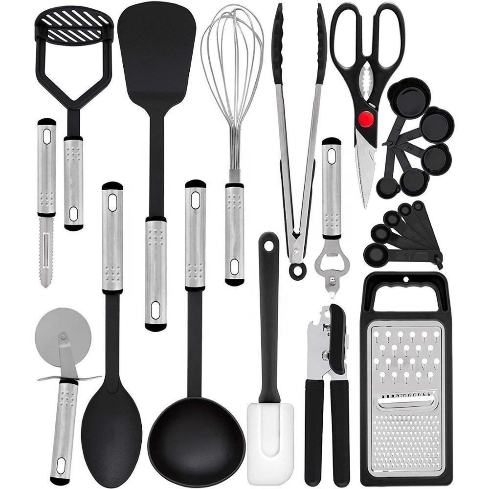 Siap Rumah Dapur Aksesoris 23 Potongan Nilon dan Stainless Steel Peralatan Masak Alat Dapur Non-stick Peralatan Set