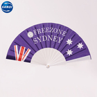 Color Paper Fan Custom Full Color Printed Paper Foldable Hand Fan