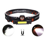 Magnet base camp light, 8w 700lm cob XPE rechargeable led headlamp
