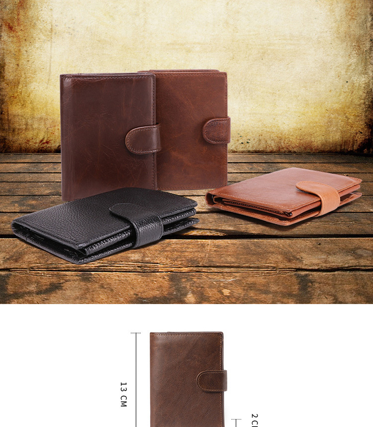 Hot Sale High Quality Card Holder Purse Custom Design Leather Mens Wallet Factory