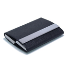 Double Leather ID Card Case Business Box Double Sided Card Holder
